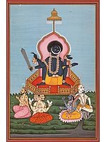 Goddess Kali in the Birth-Giving Posture