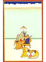 Simhavahini Ashtabhujadharini Devi Parvati