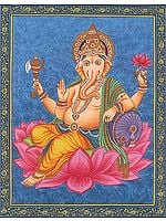 Shri Ganesha on Lotus