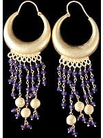 Faceted Amethyst Gold Plated Earrings