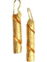 Spiral Gold Plated Earrings
