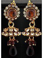 Polki Jhumka Earrings