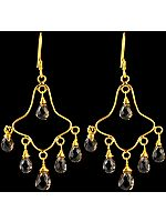 Faceted Smoky Quartz Chandeliers