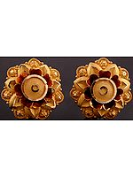 Meenakari Karnaphul (Flower Shaped Earrings)