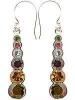 Faceted Tourmaline Earrings