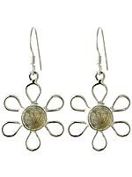 Labradorite Flower Earrings