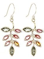 Faceted Tourmaline Leaves Earrings
