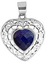 Faceted Lapis Lazuli Valentine Pendant