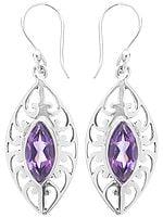 Faceted Amethyst Earrings