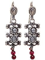 Sterling Earrings with Garnet