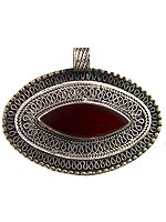 Carnelian Afghani Pendant with Filigree