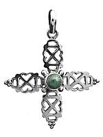 Malachite Cross Pendant