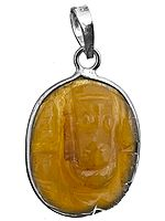 Ganesha Pendant (Carved in Citrine)