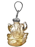 Lord Ganesha Pendant (Carved in Citrine)