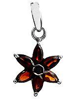 Faceted Garnet Flower Pendant