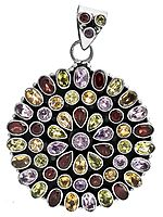 Faceted Gemstone Pendant (Garnet, Amethyst, Citrine and Peridot)