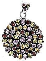 Faceted Gemstone Pendant (Garnet, Amethyst, Citrine and Peridot)