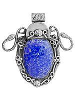 Lapis Lazuli Serpent Pendant