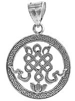Sterling Endless Knot Pendant