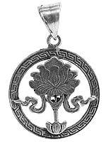 Sterling Lotus Pendant (Ashtamangala)
