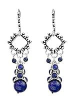 Lapis-Lazuli Bunch Earrings