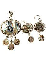 Abalone Pendant with Earrings Set