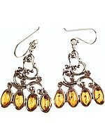 Amber Designer Earrings