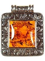 Amber Rectangle Pendant