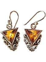 Amber Yoni Earrings