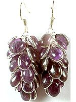 Amethyst Bunch Earrings