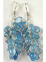 Blue Chalcedony Bunch Earrings