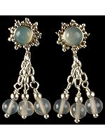 Blue Chalcedony Chandeliers
