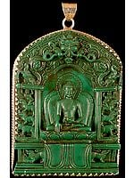 Buddha Seated on the Symbolic Six Ornament Throne of Enlightenment (Pendant Cum Altar Piece)
