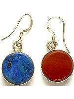 Carnelian & Lapis Lazuli Double-Sided Earrings