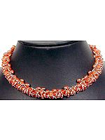 Carnelian Bezel Bunch Necklace