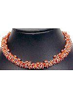 Carnelian Bezel Bunch Necklace