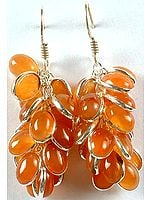 Carnelian Bunch Earrings