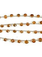 Citrine Faceted Spindles