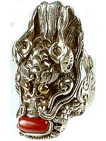 Coral Dragon Ring