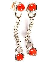 Coral Earrings
