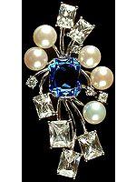 Cubic Zirconia & Pearl Pendant