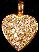 Cubic Zirconia Valentine Pendant