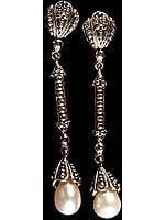 Dangling Pearl Earrings