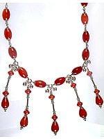 Designer Carnelian Necklace