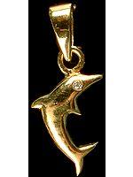Designer Dolphin Pendant with Diamond Eye