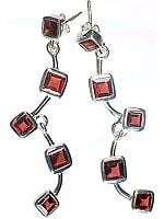 Designer Garnet Earrings