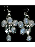 Designer Rainbow Moonstone Cabochons Earrings