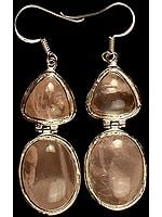 Double Rose Quartz Earrings