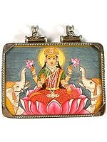 Double-Sided Pendant of Gaja-Lakshmi and A Tantric Goddess on Reverse