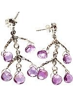Faceted Amethyst Briolette Earrings